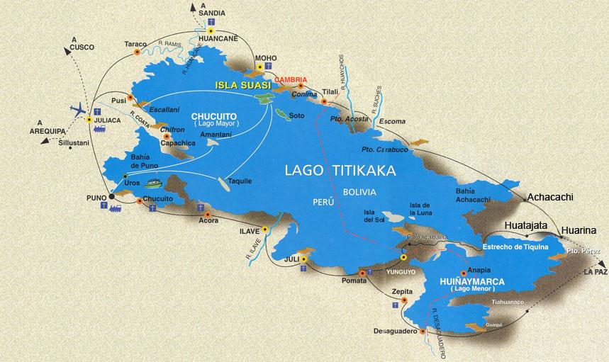 Lago Titicaca mapa